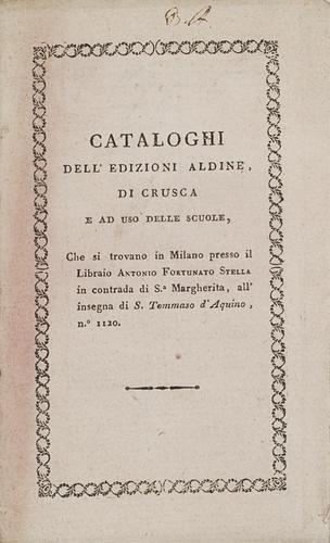 3: Aldina - [Burgassi, Antonino Cesare]. Serie dell'e