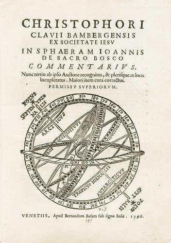 12: Astronomia - Clavius, Christoph.  In Sphaeram Joan