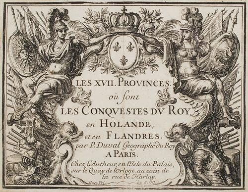 13: Atlante - [Fiandre]. Du Val, Pierre. Les XVII Prov