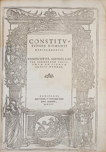 84: Milano - Milano [Ducato]. Constitutiones dominii M