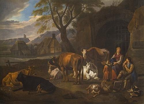"""6: """"Cerchia di Peter van Bloemen, detto lo Stendardo"""