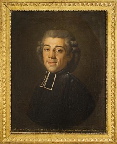 """20: """"Scuola romana, 1821"""" """"Ritratto del prelato A. Can"""