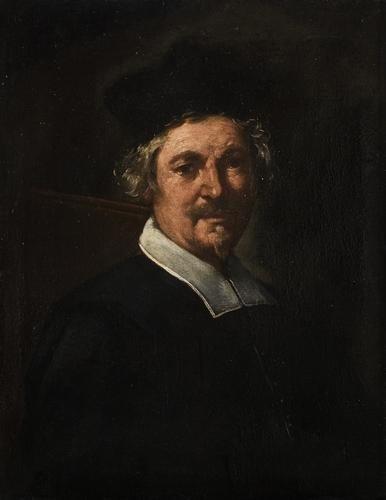 """23: """"Scuola genovese, secolo XVII"""" """"Ritratto di gentil"""