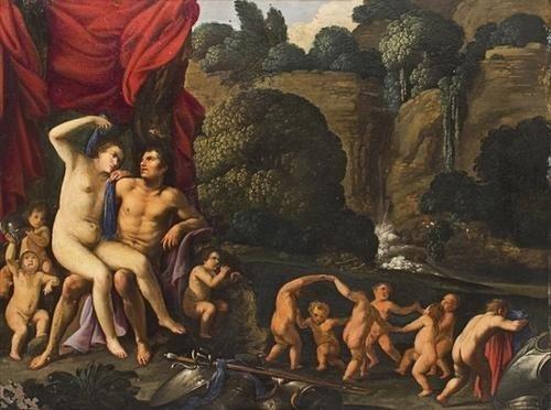 """80: """"Cerchia di Carlo Saraceni (Venezia 1579 -  1620)"""
