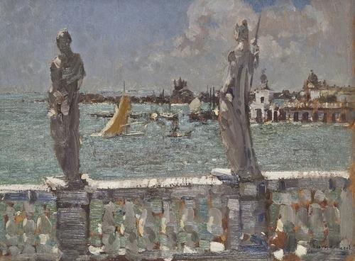 "1: Emma Ciardi (1879-1933) ""Laguna verde"""