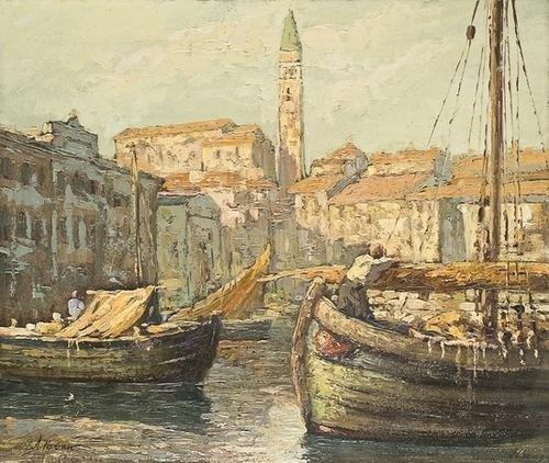 9: Angelo Pavan (1893-1945)  Veduta del Porto di Pira