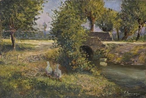 15: Cesare Saccaggi (1868-1934) Paesaggio di campagna