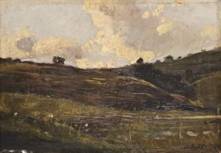 18: Attribuito a Lorenzo Delleani (1840-1908)  Paesagg
