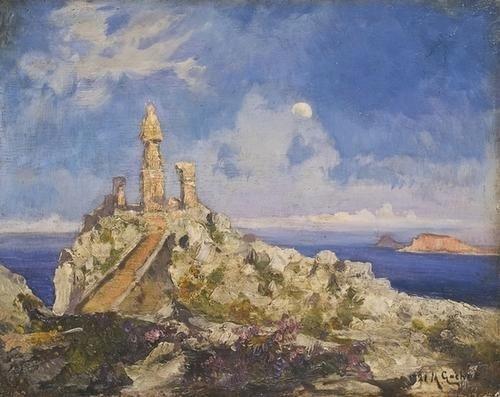 """19: Mario Gachet (1879-1981) """"Palermo, S. Rosalia sul"""
