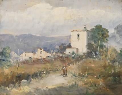58: Guido Casciaro (1900-1963) Campagna nei pressi di