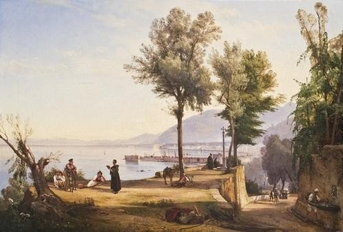 71: Giacinto Gigante (Napoli 1806-1876) Castellammare