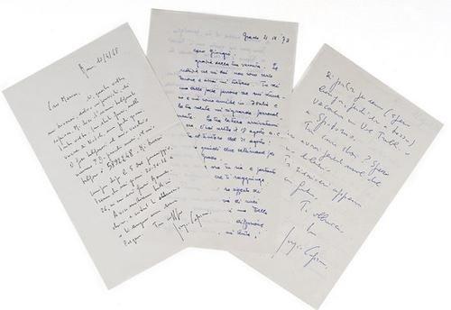 6: Caproni, Giorgio. Lettere.