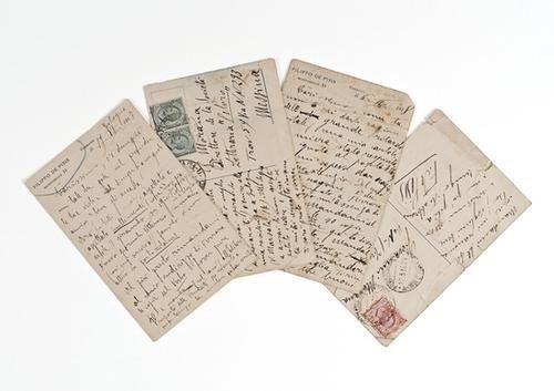 16: De Pisis, Filippo. Cartoline postali autografe e f