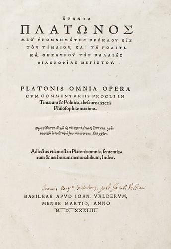 159: Platone. Omera omnia.