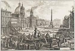 418: Piranesi, Giovanni Battista. Veduta di Piazza Navo