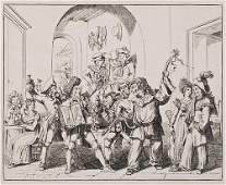 540 Pinelli Bartolomeo Five last days of the carniva