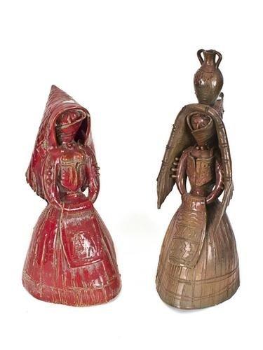 7: G. Silecchia Due sculture in ceramica