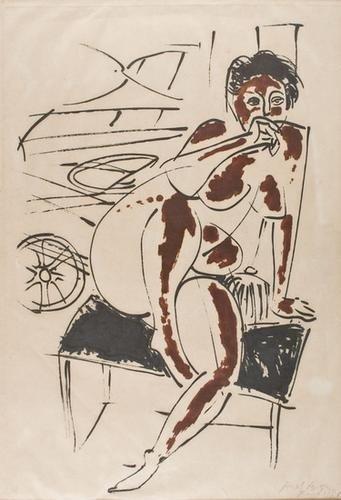 96: Pericle Fazzini  (1913-1987)  Modella