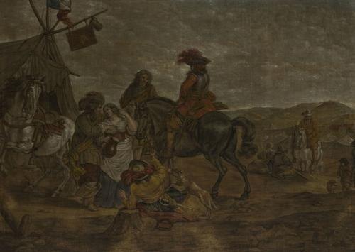 7: Maniera di Pieter Wouwerman Sosta di cavalieri