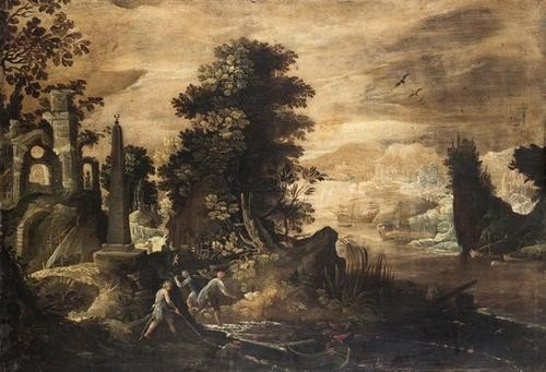 9: Cerchia di Paul Brill (Anversa 1554-Roma 1626) Pae