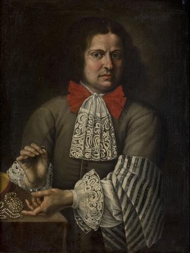 17: Scuola romana, secolo XVII Ritratto di un gioielli