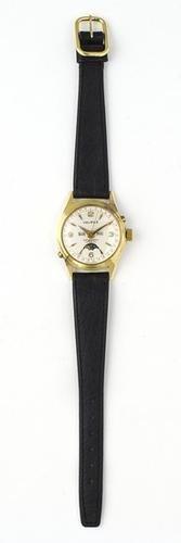 1: Valruz, a gentleman's gold plated steel wristwatch