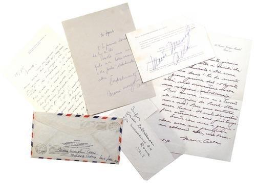 11: Callas, Maria. Lettere.