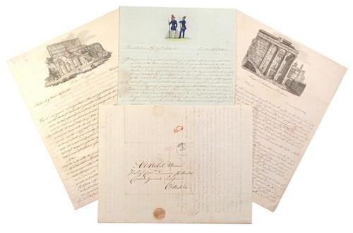 20: Cinotti, Filippo. Lettere autografe firmate.