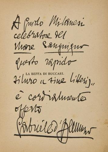 24: [D'Annunzio] - Milanesi, Guido. Mar sanguigno.