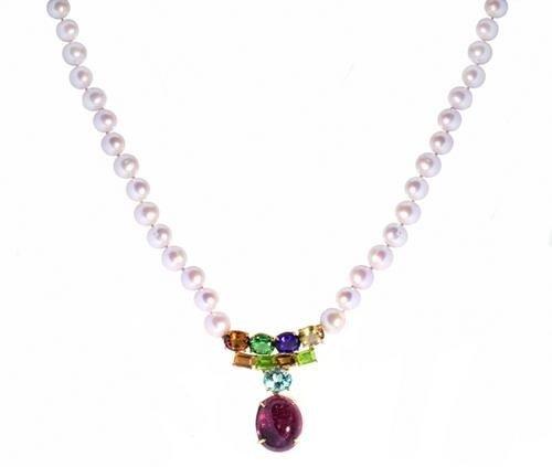 16: Collana girocollo un filo di perle naturali coltiv
