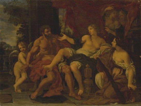 1: Attribuito a Ciro Ferri  (Roma 1634 - 1689) Ercole