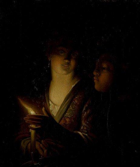 3: Maniera di Georges de la Tour Scena a lume di cand