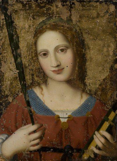 11: Scuola lombarda, secolo XVI Santa Caterina