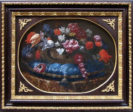 20: SCUOLA TOSCO-ROMANA, metà XVII secolo Tulipani, gi