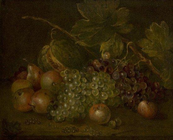 23: Scuola italiana, secolo XVIII Uve bianche e nere,