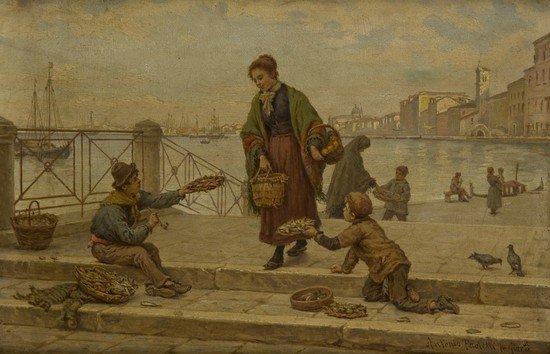 19: Antonio Paoletti (1833-1913?) Veduta di Venezia co