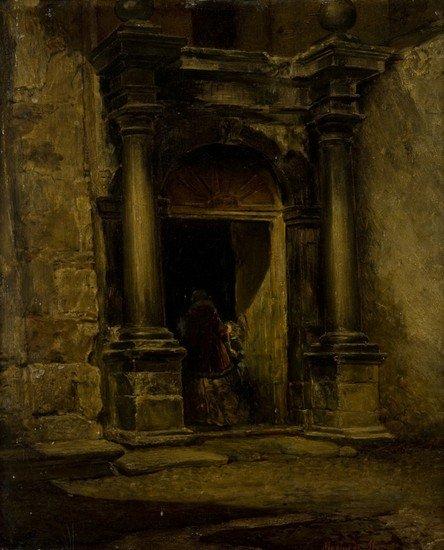 36: Mario de Maria (Bologna 1852-1924) Figure presso l