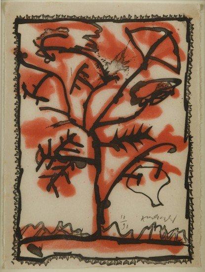 2: Pierre Alechinsky (Bruxelles, 1927) Albero, 1969