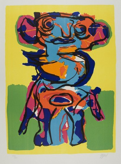 9: Karel Appel (Amsterdam, 1921 - Zurigo, 2006)  Pers