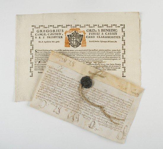 1: Bolle e brevi papali. Collezione di autografi.