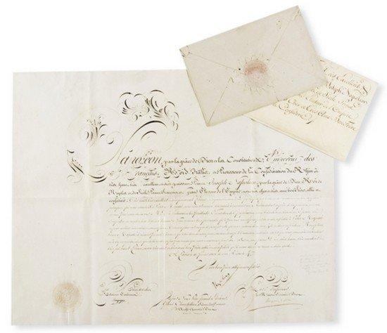 2: Bonaparte, Napoleone. Lettera autografata.