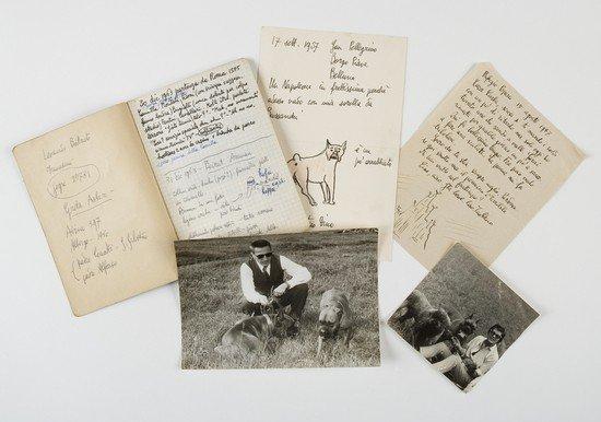 3: Buzzati, Dino. Lettere, fotografie e disegni.