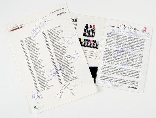 4: Campioni del Ciclismo. Firme autografe.
