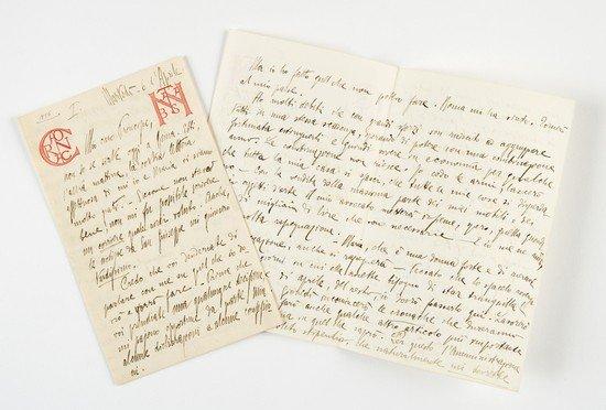 10: D'Annunzio, Gabriele. Lettera autografa firmata.
