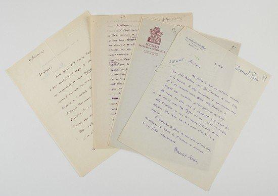 20: Intellettuali e scrittori francesi. Lettere autogr