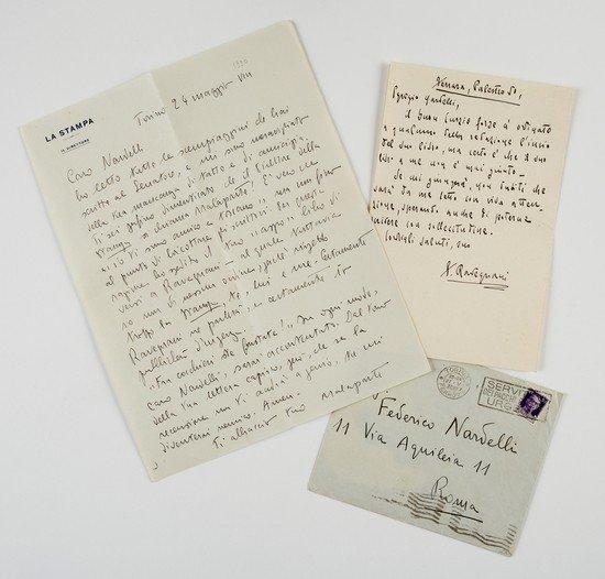 23: Malaparte, Curzio. Lettera autografa firmata.