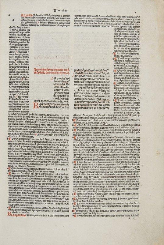 338: Incunabolo - Gregorius IX. Decretales cum glossa (