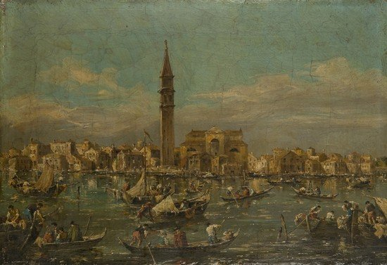 26: Maniera di Francesco Guardi Coppia di vedute di Ve