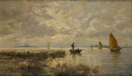 94: Scuola italiana del XIX secolo Venezia, vele in la