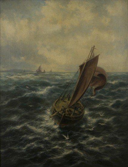 """194: Thomas Rose Miles (attivo 1869 - 1906)   """"To Sea f"""